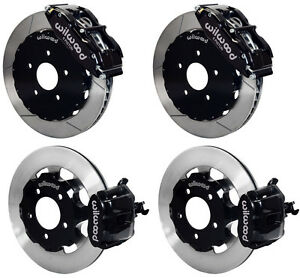 Wilwood Disc Brake Kit 06 12 Honda Civic Si 2 0l 13 12 Rotors Black Calipers