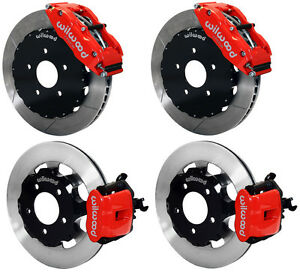 Wilwood Disc Brake Kit 06 12 Honda Civic Si 2 0l 13 12 Rotors Red Calipers