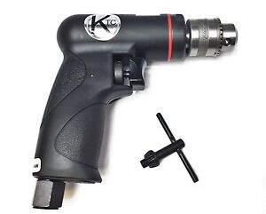 Pnuematic Air Drill Reversible Small Compact Powerful Quiet Ktc 1 4 2600rpm