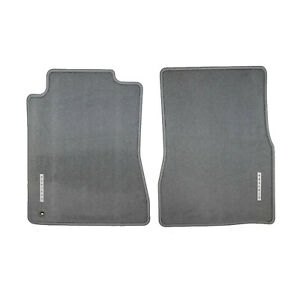 Oem New 2006 2009 Ford Mustang Floor Mats W Metal Badge Emblem Logo Gray