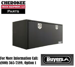 Buyers Products 1704315 Black Steel Underbody Toolbox 24 H X 24 D X 60 W