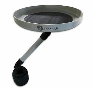 Zone Tech Car Vehicle Swivel Round Table Cup Holder Tray Organizer Holder Bin