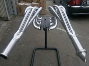 Small Block Chevy Twister Outside Chasis Silver Ceramic Coated Exhaust Headers
