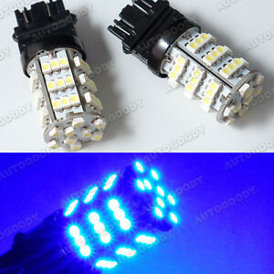 2x Blue Led Daytime Running Light Bulbs 54 Smd 3156 3157 3757 4114 4157