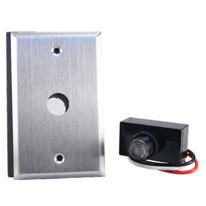 Flush Wall Mount Photo Control Eye Photocell 120v Raintight With Wall Plate
