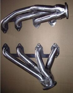 Big Block Ford Fe 352 428 1968 Up Mustang Plain Steel Exhaust Headers Ff393 P