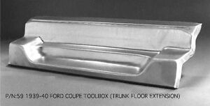 Ford 1939 1940 Coupe Toolbox Tool Box Compartment Trunk Extension 59 Ems