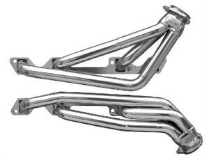 Buick Riviera 401 425 Nailhead Silver Coated Shorty Exhaust Header Set Bnh2 Sec