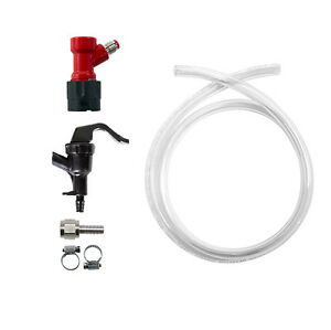 Pin Lock Liquid Line Disconnect Threaded Pigtail Assembly Hose Clamps Homebrew