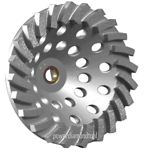 4pk 7 24 Segment Spiral Turbo Diamond Cup Wheel Concrete Block Grinding 5 8 7 8