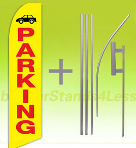Parking Swooper Flag 15 Kit Feather Flutter Tall Banner Sign Yb
