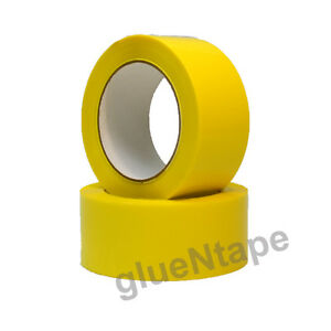 Yellow Color Carton Sealing Packing Tape 2 X 330 48 Mm X 110 Yards 12 Rolls