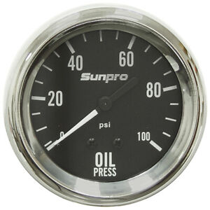 100 Psi 2 5 8 Sunpro Mechanical Oil Pressure Gauge Kit 28 1493
