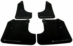 Rally Armor Ur Black Mud Flaps Flap W Silver Logo For 08 10 Wrx