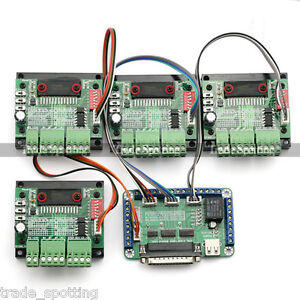 4 Axis Tb6560 Cnc Stepper Motor Driver Controller Board Kit 57 Two phase 3a us