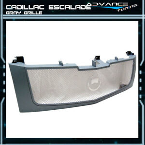 Fits 02 06 Cadillac Escalade Est Esv Mesh Grille Grill Gray Brand New