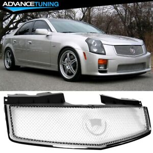Fits 03 07 Cadillac Cts V Stainless Mesh Grill Grille Brand New
