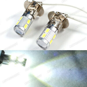 H3 Led Bulbs 10 Smd Ultra White Driving Fog Lights High Beam