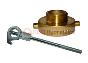 Fire Hydrant Adapter Combo 2 1 2 Nst f X 1 1 2 Nst m W Hd Hydrant Wrench