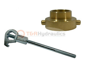 Fire Hydrant Adapter Combo 1 1 2 Nst f X 1 Npt m W Hd Hydrant Wrench