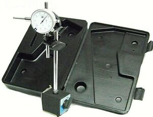 On Off Magnetic Base With 0 To 1 Dial Indicator Gauge With Case
