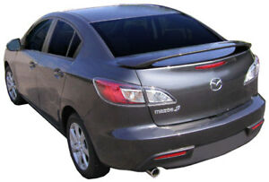 For Mazda3 All Models Unpainted Custom Style Spoiler Wing Trim 2010 2013