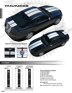For Ford Mustang W Camera Spoiler Graphics Kit Decals Ee1781 Emblems 2013 2014