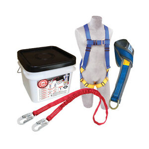 Protecta 2199810 Fall Protection Kit Includes Harness Lanyard Web Strap