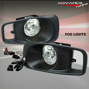 Fit For 99 00 Honda Civic Si Ek Jdm Bumper Fog Lights Lamps Kit Clear Lens
