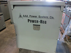 Aaa Power System Pr300h05 300 Kva 480x120 208 Volt 3ph Power Regulator T225