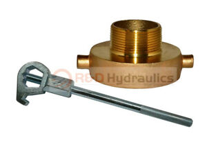 Fire Hydrant Adapter Combo 2 1 2 Nst f X 1 1 2 Npt m W Hd Hydrant Wrench