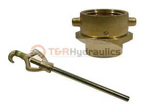 Brass Swivel Adapter Combo 2 1 2 Nst f X 2 1 2 Nst m W hydrant Wrench
