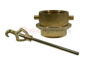 Brass Swivel Adapter Combo 2 1 2 Nst f X 2 1 2 Nst f W hydrant Wrench