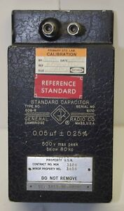 General Radio Standard Capacitor Type 509 r 0 05 Uf