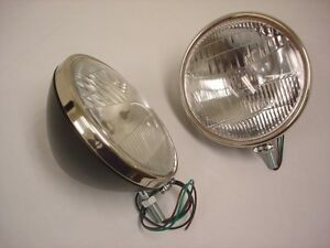 1933 1934 Ford Commercial Car Pickup Truck Headlights Glass Lens W Logo