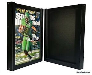 Magazine Sports Illustrated Display Frame Case Black Shadow Box Lot Of 2