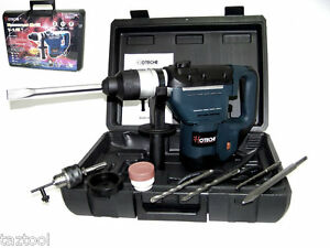 1 1 2 Electric Rotary Hammer Drill With Bits Sds Plus Roto Tool 1 5 Hp