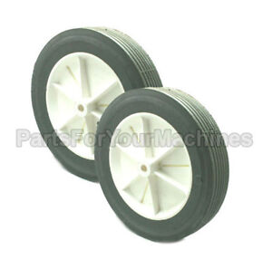 Set Of 2 Wheels For Nss Pacer 30 Vacuum Cleaner New Oem 05 9 926 1 Or 0599261