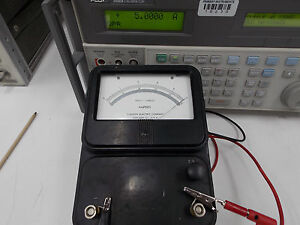 Simpson Model 9 Direct Current Amperes Meter tested