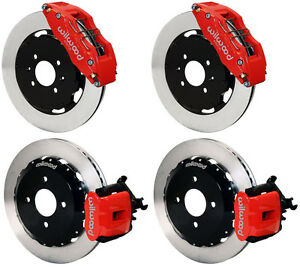 Wilwood Disc Brake Kit Honda Civic 10735 10207 12 Rotors Red Cal 6 Piston Front