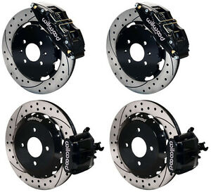 Wilwood Disc Brake Kit Honda Civic 10735 10209 12 Drilled Rotors 6 Piston Front