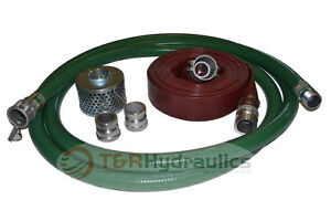 3 Green Fcam X Mp Water Suction Hose Trash Pump Complete Kit W 50 Red Dis