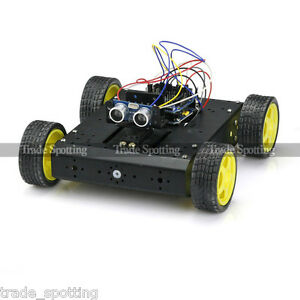 Sainsmart Uno sensor Shield V5 4wd Mobile Car l298n hc sr04 For Arduino Robot