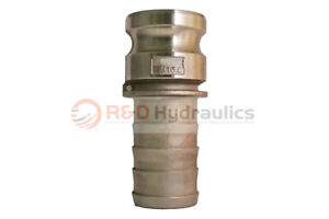 3 Type 300e 316 Stainless Steel Male Camlock X Hose Barb