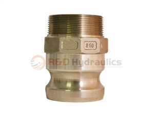 3 Type 300f 316 Stainless Steel Male Camlock X Male Pipe Npt