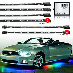 3 Million Color 12pc Led Undercar Interior Glow Neon Music Light Kit Remote