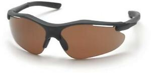 Pyramex Sb3715d Fortress Safety Glasses Black Frame W coffee Lens 12 Pair