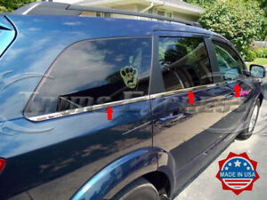 Fit 2009 2020 Dodge Journey 6pc Window Sill Trim Stainless Steel Overlay
