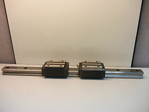 2 Thk Hsr35 Used Linear Guide Blocks With 1 23 9 16 Used Guide Rail Hsr35