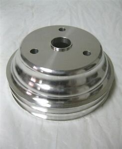 Small Block Chevy Lwp Aluminum Double Groove Crankshaft Lower Pulley Sbc 283 350